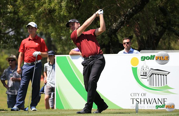 Toby Tree (ENG) once again produced a move on the lead with a round of 65 during Round Three of the 2016 Tshwane Open, played at the Pretoria Country Club, Waterkloof, Pretoria, South Africa.  13/02/2016. Picture: Golffile | David Lloyd<br /> <br /> All photos usage must carry mandatory copyright credit (&copy; Golffile | David Lloyd)