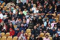The Taranaki crowd watches grim-faced as Australia hold onto their lead during the International rugby match between New Zealand Secondary Schools and Suncorp Australia Secondary Schools at Yarrows Stadium, New Plymouth, New Zealand on Friday, 10 October 2008. Photo: Dave Lintott / lintottphoto.co.nz