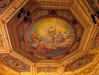 Ceiling frescos in law room at Istituti Universitari Padua, Ital