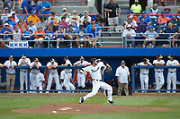 Wake Forest Demon Deacons starting pitcher Connor Johnstone (3) in action against the Florida Gators in Game Two of the Gainesville Super Regional of the 2017 College World Series at Alfred McKethan Stadium at Perry Field on June 11, 2017 in Gainesville, Florida.  (Brian Westerholt/Four Seam Images)
