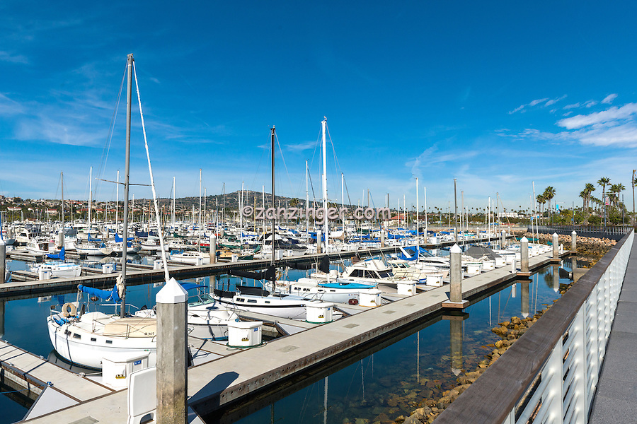 San Pedro, Cabrillo Marina, Yachts, Sailboats, Motorboats, Powerboats, Docked, Moored, Tied up