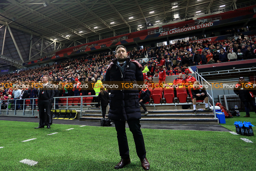 Bristol City manager Lee Johnson during Bristol City vs Hull City, EFL Cup Football at Ashton Gate on 25th October 2016