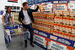 Florida Georgia Line's Tyler Hubbard, left, and Brian Kelley shop for General Mills products at Sam's Club in support of Outnumber Hunger on Tuesday, March 19, 2013, in Nashville, Tennessee.  (Photo by Wade Payne/Invision for General Mills/AP Images)