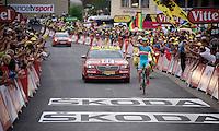 Italian Champion Vincenzo Nibali (ITA/Astana) wins the stage<br /> <br /> stage 19: St-Jean-de-Maurienne - La Toussuire / Les Sybelles   (138km)<br /> Tour de France 2015