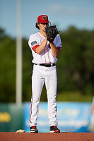 Florida Fire Frogs starting pitcher Ian Anderson (30) gets ready to deliver a pitch during a game against the Palm Beach Cardinals on May 1, 2018 at Osceola County Stadium in Kissimmee, Florida.  Florida defeated Palm Beach 3-2.  (Mike Janes/Four Seam Images)
