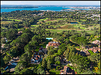 BNPS.co.uk (01202 558833)<br /> Pic: Savills/BNPS<br /> <br /> Three-mendous!<br /> <br /> Overlooking Poole harbour and the exclusive Parkstone Golf Club.<br /> <br /> Stunning seaside estate overlooking Sandbanks that wouldn't look out of place in the Hollywood Hills - and you get three properties for your &pound;9 million price tag.<br /> <br /> You get three luxury homes for the price of one with this spectacular private coastal estate - but they will still need deep pockets as the trio of properties are on the market for &pound;8.995m.<br /> <br /> The Mulberry House Estate is in the leafy Canford Cliffs area of Poole, Dorset, and has a grand five-bedroom mansion, a second detached five-bedroom house and a two-bedroom gate house.<br /> <br /> Locals describe the Canford Cliffs area as the 'Hollywood Hills' of the coastal property hotspot, more refined and less showy than the more 'Malibu style' Sandbanks peninsula that it overlooks.<br /> <br /> Offering beautiful views but with privacy and seclusion, and without the tourist crowds that the Sandbanks millionaire's enclave attracts.<br /> <br /> Estate agent Savills say the sale is a &quot;unique opportunity&quot; as the 2.2 acre Mulberry property is the only private estate in the area.