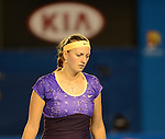 Petra Kvitova (CZE) loses  at Australian Open in Melbourne Australia on 17th January 2013