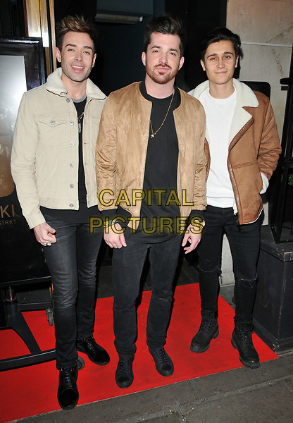 The Scheme at the YOSHIAKI by DSTRKT restaurant launch party, DSTRKT, Rupert Street, London, England, UK, on Tuesday 28 March 2017.<br /> CAP/CAN<br /> &copy;CAN/Capital Pictures