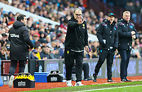 Leeds United manager Marcelo Bielsa shouts instructions to his team from the technical area<br /> <br /> Photographer Alex Dodd/CameraSport<br /> <br /> The EFL Sky Bet Championship - Aston Villa v Leeds United - Sunday 23rd December 2018 - Villa Park - Birmingham<br /> <br /> World Copyright &copy; 2018 CameraSport. All rights reserved. 43 Linden Ave. Countesthorpe. Leicester. England. LE8 5PG - Tel: +44 (0) 116 277 4147 - admin@camerasport.com - www.camerasport.com