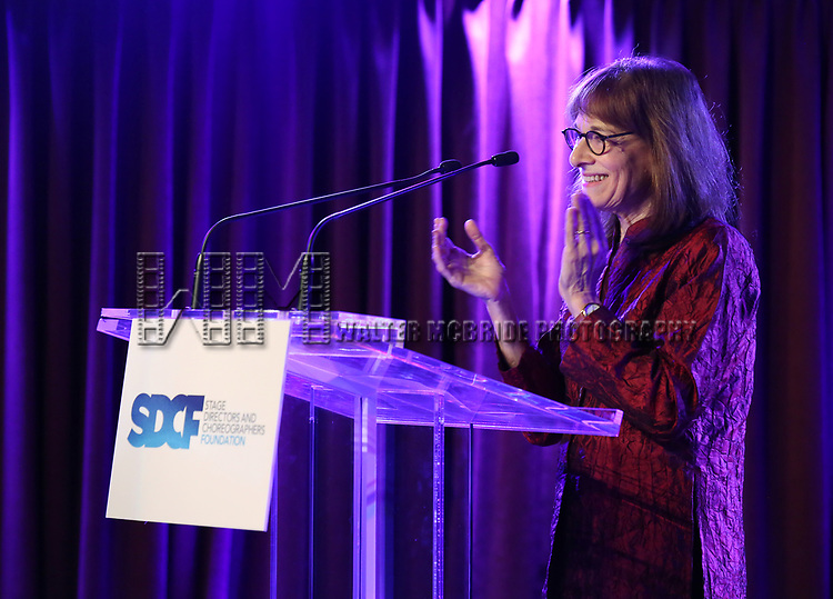 Pamela Berlin on stage during the Second Annual SDCF Awards, A celebration of Excellence in Directing and Choreography, at the Green Room 42 on November 11, 2018 in New York City.