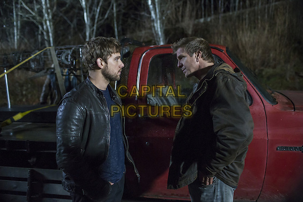 Max Thieriot, Kenny Johnson<br /> in Bates Motel (2013&ndash; ) <br /> (Season 3)<br /> *Filmstill - Editorial Use Only*<br /> CAP/FB<br /> Image supplied by Capital Pictures