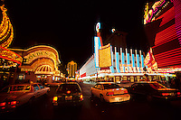 Horseshoe Casino and Neonlights in Las Vegas gambling city in Nevada, USA