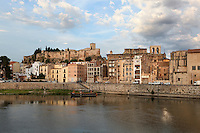 Old city of Tortosa, Tarragona, Spain, on the right bank of the Ebro river with the Castle of Sant Joan or La Suda in the distance. Picture by Manuel Cohen