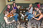 Kingdom Trad Night : Musicians taking part in the Irish taditional music session at the Kingdom Bar, Listowel on Friday night last. L-R: Yvonne Buckley, John Neville, Lorraine Horgan, Aisling Neville, Eoin Wrenn & Katie Lucey.