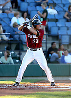 Justin Parker / Yakima Bears at bat in a game against the Boise Hawks - Boise, ID - 08/27/2008..Photo by:  Bill Mitchell/Four Seam Images