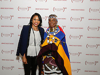 Jasmin Allen and Esther Mahlangu attend the Belvedere (RED) Art Class at Ace Gallery in Los Angeles, CA on September 14, 2016 (Photo by Inae Bloom / Guest of a Guest)