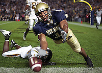 Pittsburgh wide receiver Larry Fitzgerald with a rare miss on September 6, 2003.