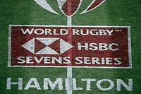 New Zealand v France. Action from the 2019 HSBC World Sevens Series Hamilton at FMG Stadium in Hamilton, New Zealand on Saturday, 26 January 2018. Photo: Shane Wenzlick / lintottphoto.co.nz