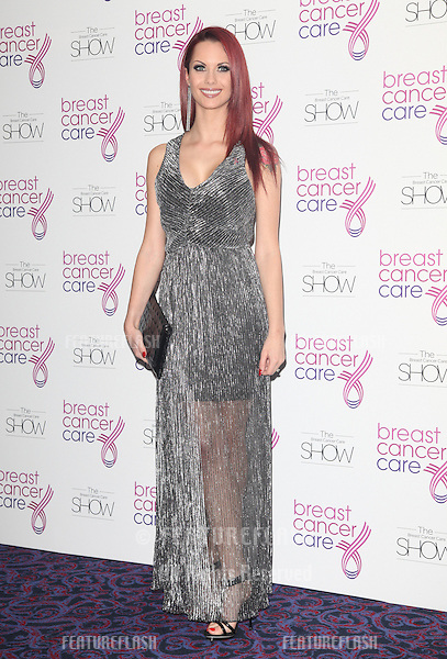 Jessica Jane Clement arriving for the Breast Cancer Care Fashion Show, Grosvenor House Hotel, London. 02/10/2012 Picture by: Alexandra Glen / Featureflash