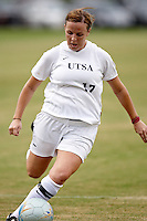 SAN ANTONIO, TX - AUGUST 29, 2008: The Texas Southern University Tigers vs. The University of Texas at San Antonio Roadrunners Women's Soccer at the UTSA Soccer Field. (Photo by Jeff Huehn)