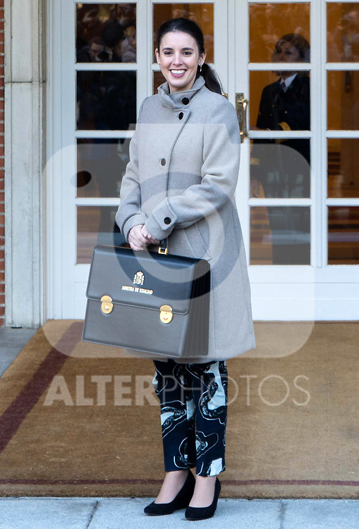 Spain's Minister for Equality Irene Montero attends the first cabinet meeting of the new government. January 14,2020. (ALTERPHOTOS/Ander Beizama)
