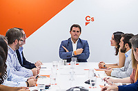 Albert Rivera presides the meeting<br /> National Executive of Ciudadanos political party, C's, meeting at Ciudadanos' headquarter in Madrid on October 9, 2017.