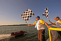 3-4 May 2008, Pickwick,TN USA.Shaun Torrente flashes under the checkered flag..©2008 F.Peirce Williams