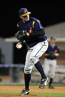 September 7 2008:  Pitcher Allen Ponder of the State College Spikes, Class-A affiliate of the Pittsburgh Pirates, during a game at Dwyer Stadium in Batavia, NY.  Photo by:  Mike Janes/Four Seam Images