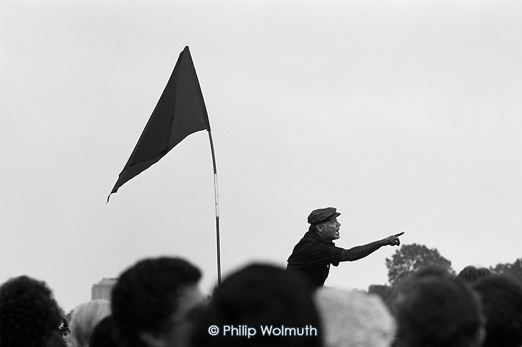 Peter Bhalla, Speakers Corner, Hyde Park, London; October 1978.