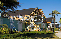 Tornado damage to homes in Lady Lake, Florida