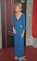 Sue Nicholls at the British Soap Awards 2019, The Lowry Theatre, Pier 8, The Quays, Media City, Salford, Manchester, England, UK, on Saturday 01st June 2019.<br /> CAP/CAN<br /> ©CAN/Capital Pictures