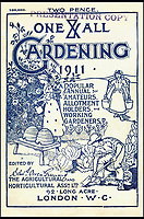 BNPS.co.uk (01202 558833)<br /> Pic: AmberleyPublishing/BNPS<br /> <br /> In addition to the subject-specific booklets, the One and All Association published annuals aimed at the gardener and allotment holder.<br /> <br /> These fascinating old pictures show that allotments have been a passion of the British for centuries.<br /> <br /> Today, more than 90,000 people are on waiting lists to get their own little patch of land to grow vegetables, and the pastime was just as popular in the early years of the 20th century.<br /> <br /> Garden historian and lecturer Twigs Way has sourced dozens of images of green-fingered Brits tending to their allotments during the 'allotment craze' amongst the middle classes sparked by the Allotments Act of 1908 which required councils to supply them when demanded.<br /> <br /> Families would decamp to the allotment on a Sunday and picnic among the cabbages, dividing tasks with the husband digging, the wife collecting crops and the children weeding or caterpillar picking.<br /> <br /> They grew cabbage, carrots, leeks, parsnips, beet, marrow and spinach while also staying faithful to the Victorian favourites seakale, salsify, scorzonera and asparagus.<br /> <br /> The allotments helped keep the British fed during the two world wars but fell out of favour in the 1960s and 1970s with elderly plot holders cast as villains in the battle to free up land for the housing boom.<br /> <br /> But, prompted by a desire amongst Brits to reconnect with the land, they are now in the throes of a full-scale revival.