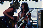 Bob Daisley & Jake E Lee of Ozzy Osbourne. Donnington Monsters of Rock 1984 Donnington 1984