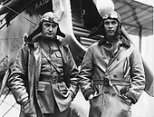 Captain Lowell Smith and Lieutenant John P. Richter, who made the first mid-air refueling, June 1923, at Rockwell Field, California..Credit: U.S. Air Force via CNP