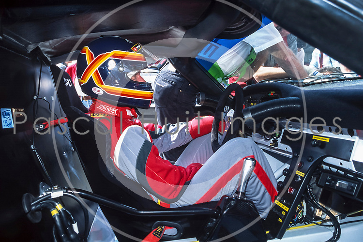 PORSCHE 911 GT1 #25, STUCK (DEU), BOUTSEN (BEL), WOLLEK (FRA), ESSAIS PREQUALIFICATIFS 24 HEURES DU MANS 1996