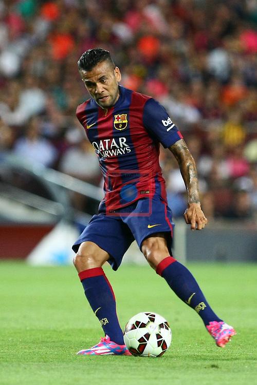 49e Trofeu Joan Gamper.<br /> FC Barcelona vs Club Leon FC: 6-0.<br /> Dani Alves.