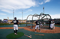 20 September 2012: Team France players take batting practice prior to Spain 8-0 win over France, at the 2012 World Baseball Classic Qualifier round, in Jupiter, Florida, USA.