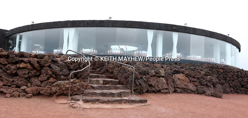 LANZAROTE, CANARY ISLANDS - El Diablo restaurant in Lanzarote uses the geothermal heat from a dormant volcano to cook its food at Timanfaya National Park, during January 2016 in Lanzarote, Canary Islands<br /> <br /> Photo by Keith Mayhew