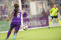 Orlando, FL - Saturday July 15, 2017: Chioma Ubogagu during a regular season National Women's Soccer League (NWSL) match between the Orlando Pride and FC Kansas City at Orlando City Stadium.