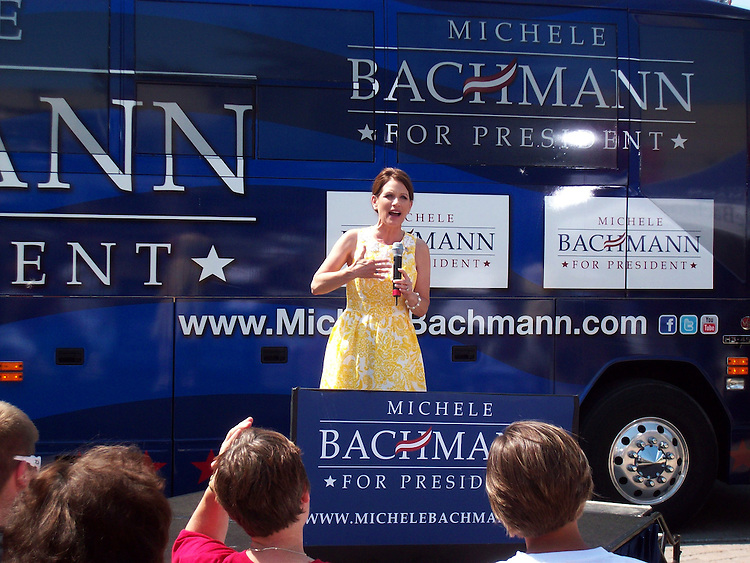 UNITED STATES - JULY 16: Michele Bachmann, R-MN., campaigns in Ames, Iowa on Sunday, July 17. (Photo By Christina Bellantoni/Roll Call)