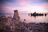The tranquil and almost pastel colors light up Mono lake where each morning is a new surprise