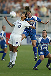 11 June 2003: Steffi Jones (22), Brooke O'Hanley (12), and Erin Baxter (23). The Carolina Courage defeated the Washington Freedom 3-0 at SAS Stadium in Cary, NC in a regular season WUSA game..Mandatory Credit: Scott Bales/Icon SMI