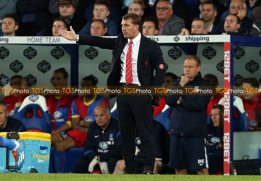 Liverpool manager Brendan Rodgers - Crystal Palace vs Liverpool, Barclays Premier League at Selhurst Park, Crystal Palace, London - 05/05/14 - MANDATORY CREDIT: Rob Newell/TGSPHOTO - Self billing applies where appropriate - 0845 094 6026 - contact@tgsphoto.co.uk - NO UNPAID USE
