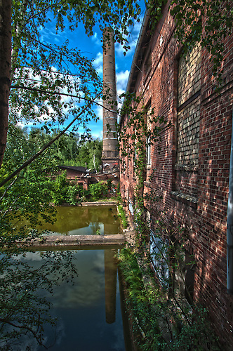 Old abandoned milll in the old east Germany.