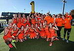 Midands celebrate winning the National Under 21 Championships Women's, Lloyd Elsmore Park, Auckland, New Zealand. Saturday 13  May 2017. Photo:Simon Watts / www.bwmedia.co.nz