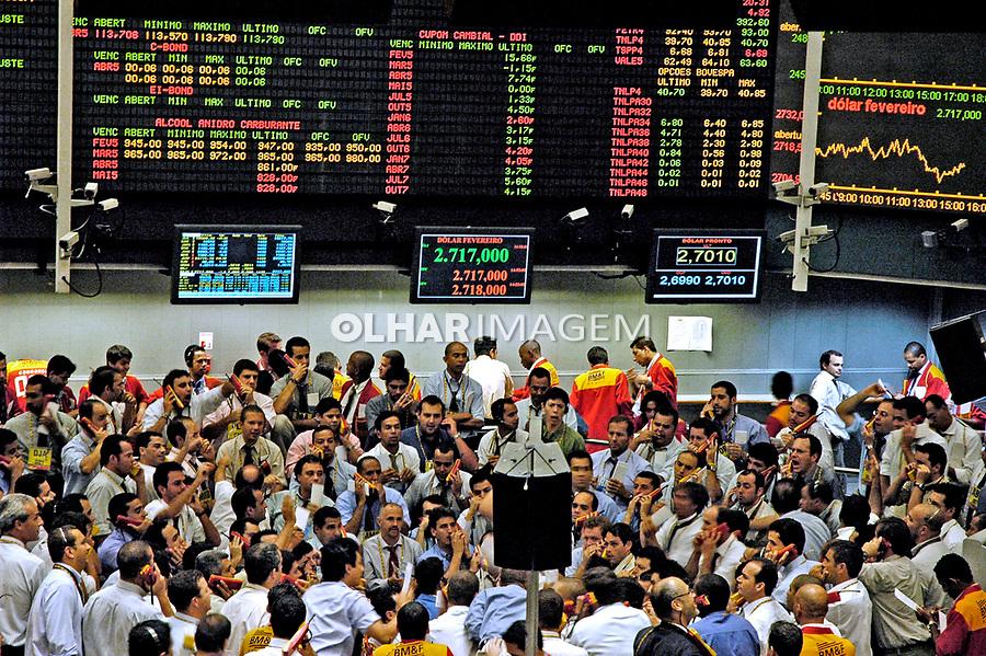 Pregão da Bolsa Mercantil e de Futuros de São Paulo. 2001. Foto de Dudu Cavalcanti.