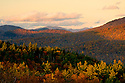 Late evening in late autumn from Rattlesnake Mtn in Rumney New Hampshire.