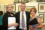 Principal, David McDonnell with tutors Joan Kennedy and Joanne Nolan at the DIFE End of Year Exhibition in the D Hotel...Photo NEWSFILE/Jenny Matthews.(Photo credit should read Jenny Matthews/NEWSFILE)....This Picture has been sent you under the condtions enclosed by:.Newsfile Ltd..The Studio,.Millmount Abbey,.Drogheda,.Co Meath..Ireland..Tel: +353(0)41-9871240.Fax: +353(0)41-9871260.GSM: +353(0)86-2500958.email: pictures@newsfile.ie.www.newsfile.ie.FTP: 193.120.102.198.