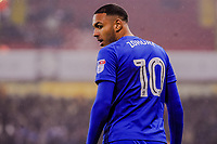 Cardiff City's forward Kenneth Zohore (10) during the Sky Bet Championship match between Sheff United and Cardiff City at Bramall Lane, Sheffield, England on 2 April 2018. Photo by Stephen Buckley / PRiME Media Images.