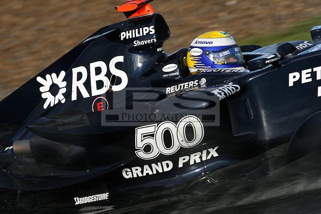 ©Jean-Francois Galeron/WRI2/TEAMSHOOT - Jerez de la Frontera Spain 14/01/2008 ; Jerez F1 Test 14-17/01/08 ; Nico Rosberg (D), Williams F1 Team. Circuito de Jerez.....***************************************..GERMANY, AUSTRALIA, FINLAND,..ITALY and SWITZERLAND OUT..***************************************..© MaxPPP / IPS PHOTO AGENCY ..ONLY UK..FOR ANY INFO'S PLEASE CONTACT:..IPS photo..21 Delisle rd.. London SE28 0JD..TEL 004420883310207..FAX 00442088551037..Mob: 00447973308835....ONLY UK ONLY UK ONLY UK ONLY UK ..